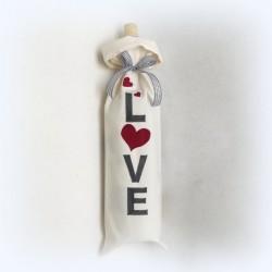 """Woreczek """"LOVE"""" z bawełny"""